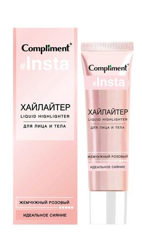Compliment Хайлайтер для лица и тела жемчужный розовый