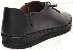 Черные женские кеды кроссовки натуральная кожа smart casual стиль EVA collection 151 Black.
