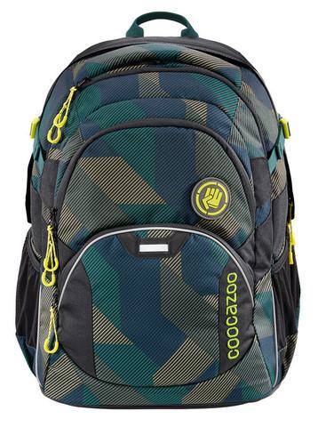 Рюкзак Coocazoo JobJobber2 Polygon Bricks темно-зеленый/серый