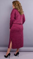 Леся. Оригинальное платье для пышных дам. Бордо.