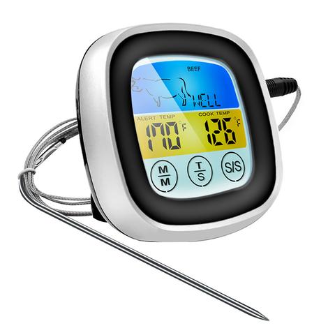 Сенсорный цифровой термометр с щупом