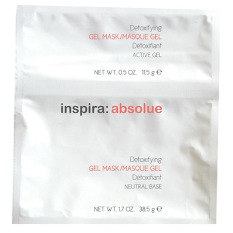 INSPIRA Absolue: Детоксицирующая моделирующая гидрогель-маска для лица (Detoxifying Gel Mask With Active Charocoal & Mint)