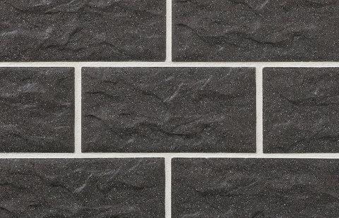 Stroeher - KS05 anthrazit, Kerabig, glasiert, глазурованная, 302x148x12 - Клинкерная плитка для фасада и цоколя