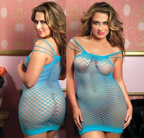 Платье на шести бретелях (BS) голубое
