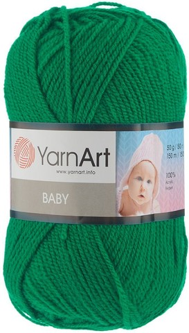 Пряжа YARNART BABY № 338 изумруд