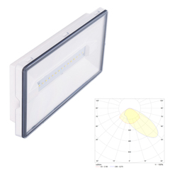 Светильники аварийного освещения эвакуационных путей с асимметричным светораспределением Vella LED SCA IP65 Intelight