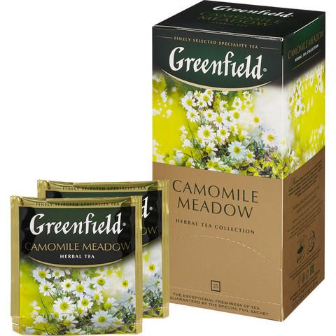 Чай Greenfield Camomile Meadow травяной с ромашкой 25 пакетиков