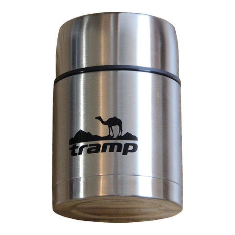 Термос с широким горлом 0,5 л. Tramp TRC-077 ( серый) (Тум) (к 34192)