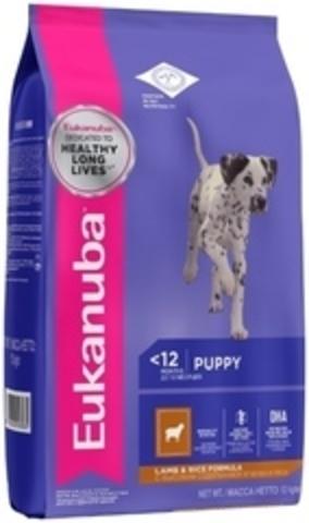 Корм для собак Eukanuba корм для щенков всех пород, ягненок 12 кг