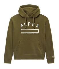 Толстовка Alpha Industries Property Hoodie (Оливковая)