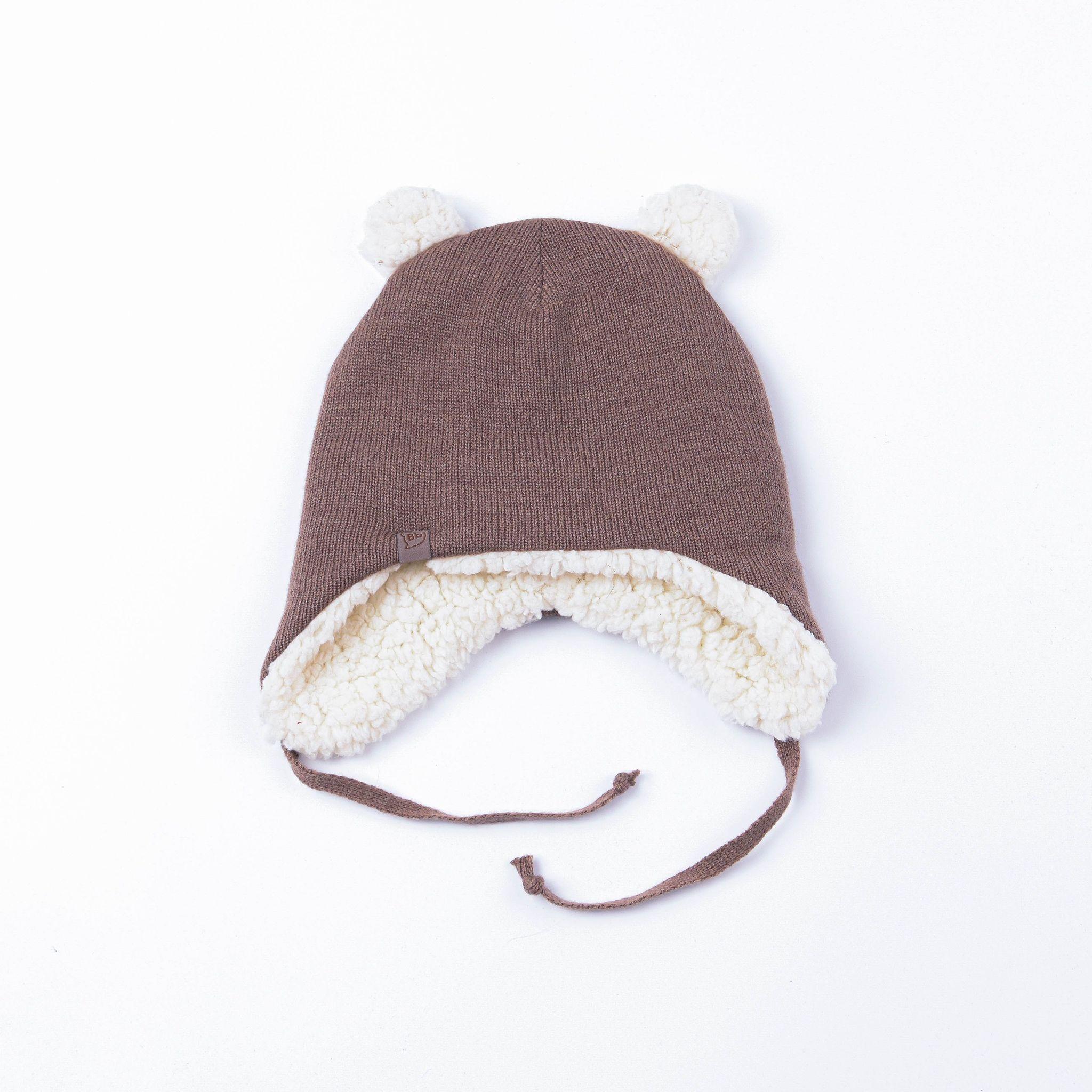 Шапка-ушанка зимняя на меховом подкладе с ушками
