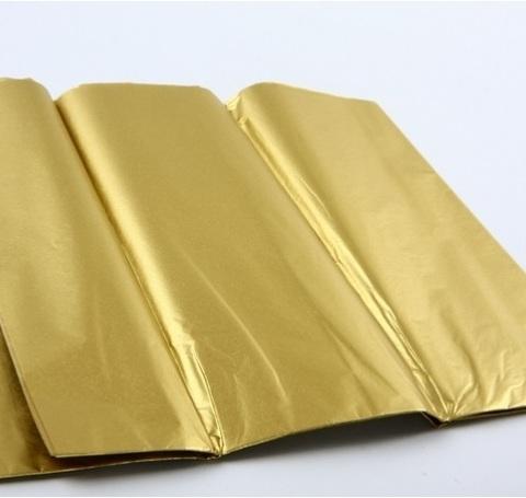 Бумага тишью 10 шт., 50х66см, цвет: золото (*имеет специфический запах)