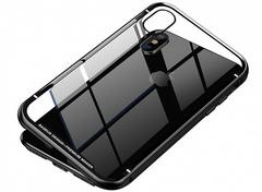 Чехол закаленное стекло с магнитной рамкой Baseus Magnetite Hardware (WIAPIPH61-CS01) для iPhone XR (6.1