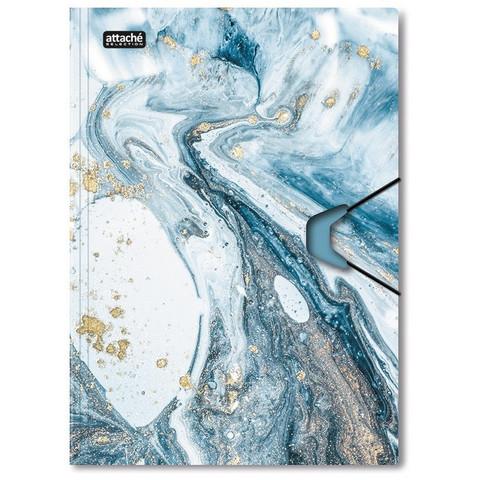 Папка на резинках Attache Selection, Fluid, серо-голубая