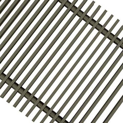 Решетка поперечная алюминиевая Techno шириной 200 мм, длина 1400 мм (цвет бронза)