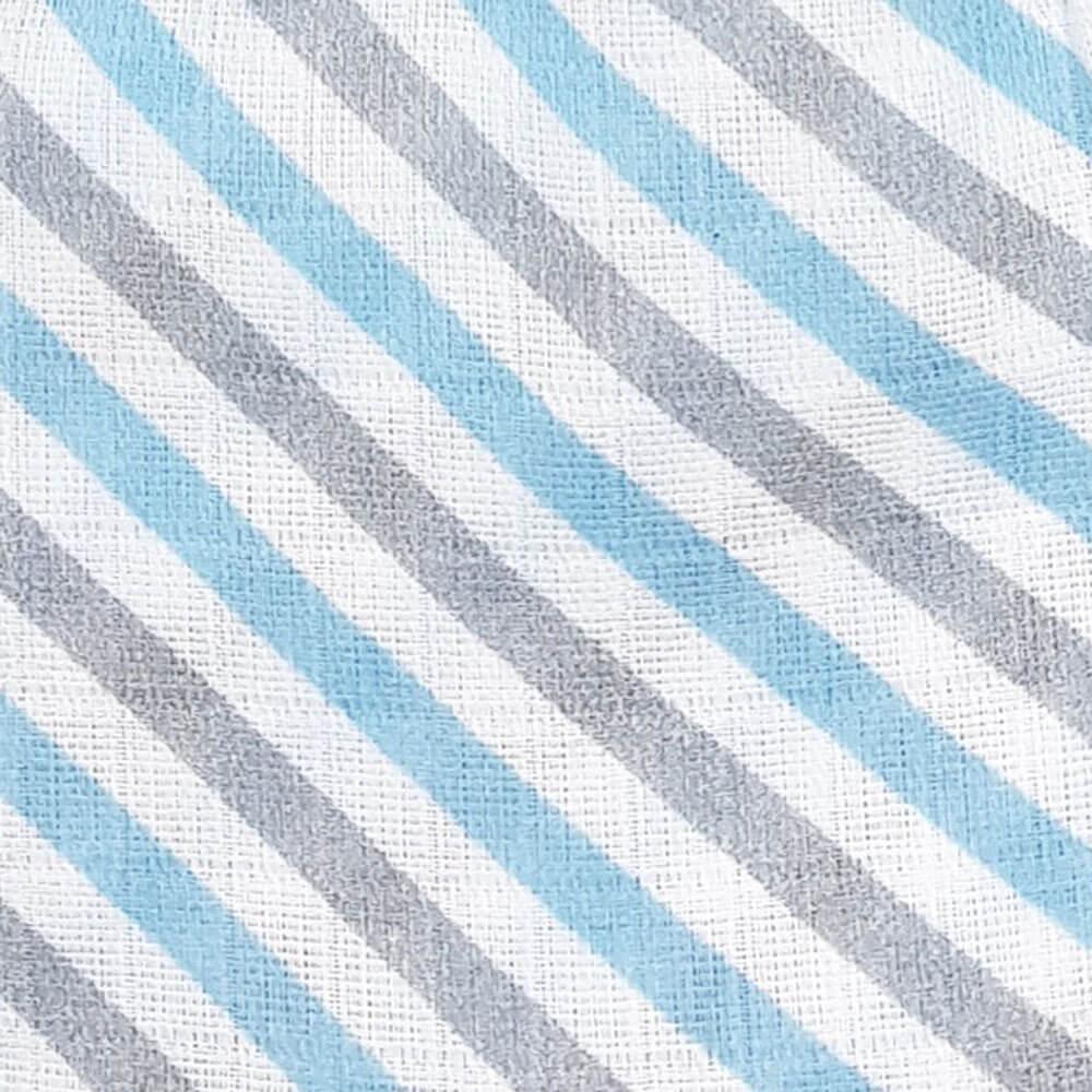 Муслиновая пеленка Adam Stork Blue Stripes 1