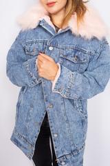 теплая джинсовая куртка с мехом интернет-магазин