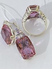 Диоген (кольцо + серьги из серебра)