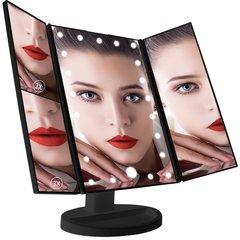 Зеркало с подсветкой раскладное   (Large LED Mirror Black) 34х26