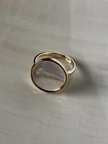 Кольцо Бернекс с перламутром, позолота