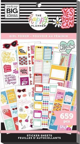 Блокнот со стикерами для ежедневника Create 365 Happy Planner Value Pack Stickers - Be Yourself - 659 шт