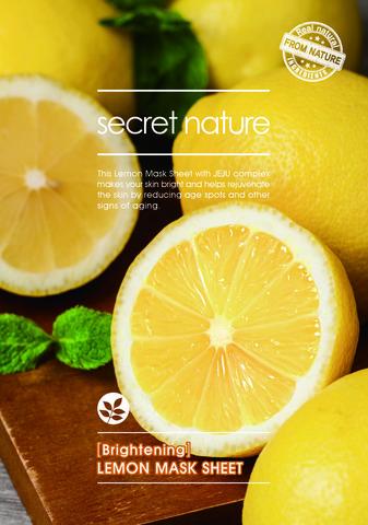 SECRET NATURE BRIGHTENING LEMON MASK SHEET Маска, придающая сияние коже с лимоном 25 мл