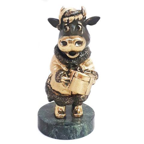 Символ 2021 года «Корова Буренка». Бронза, 13см