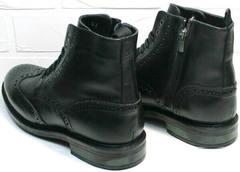 Качественные мужские зимние ботинки на шнурках LucianoBelliniBC3801L-Black