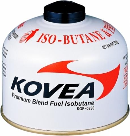 Картинка баллон Kovea для газовой горелки 230 (изобутан/пропан 70/30)  - 1