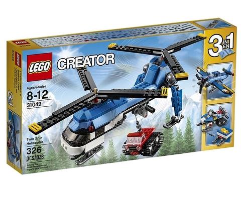 LEGO Creator: Двухвинтовой вертолёт 31049 — Twin Spin Helicopter — Лего Креатор Творец Создатель