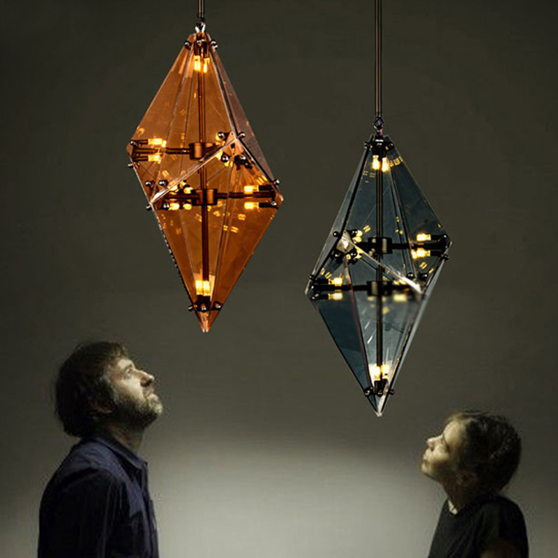 Подвесной светильник копия Maxhedron Vertical by Bec Brittain (янтарный)