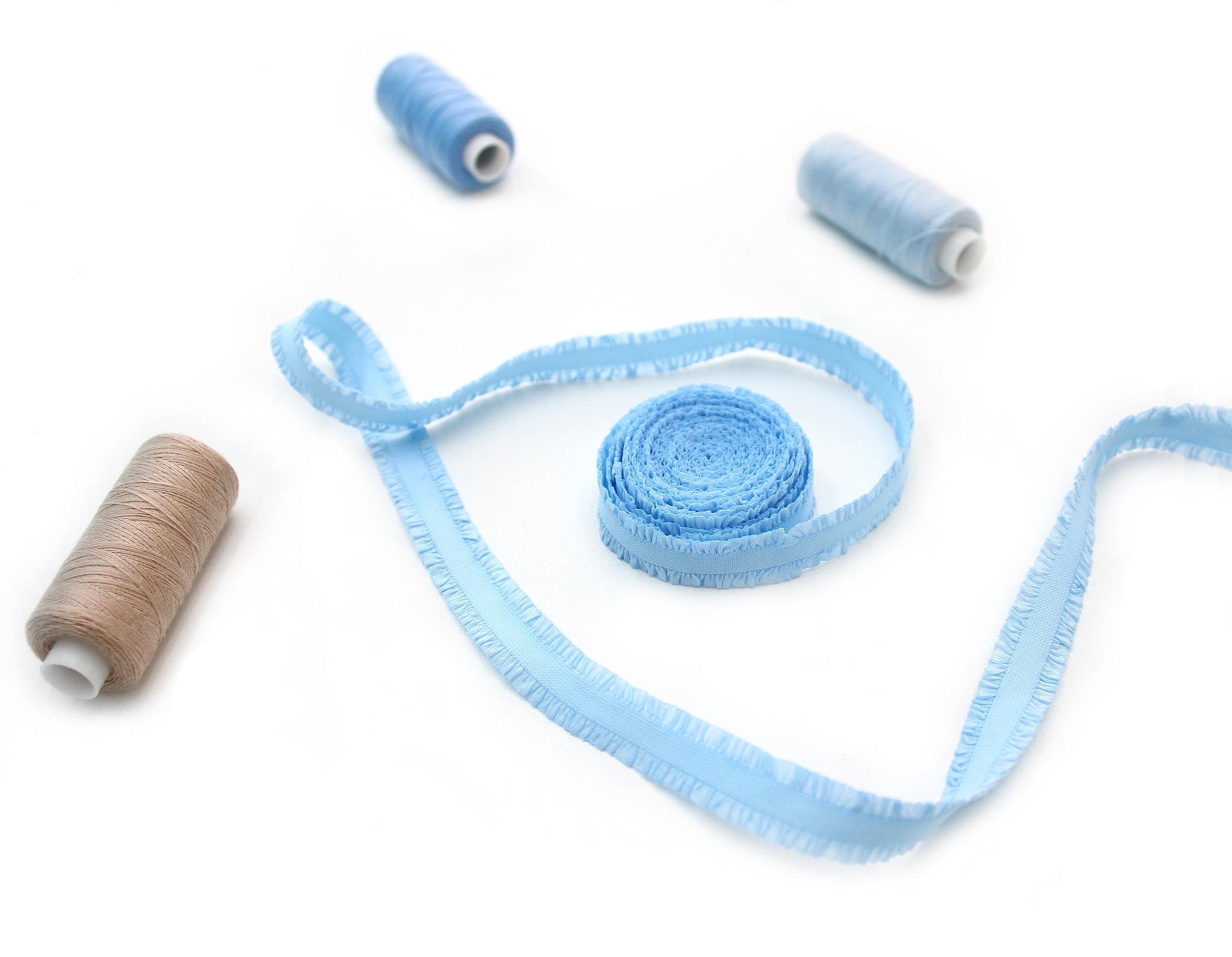 Кружевная резинка,13 мм,голубой