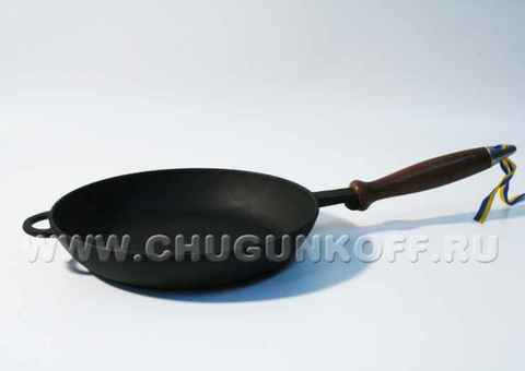 Сковорода с деревянной ручкой 220х40