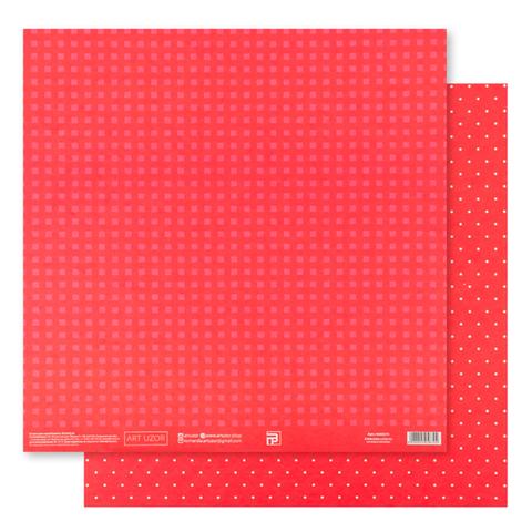 Бумага для скрапбукинга «Красная базовая», 30.5 × 32 см, 180 гм
