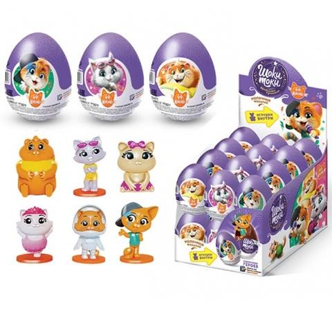 ШОКИ-ТОКИ 44 CATS Шоколадное яйцо с игрушкой 1кор*6бл*24шт, 20г.