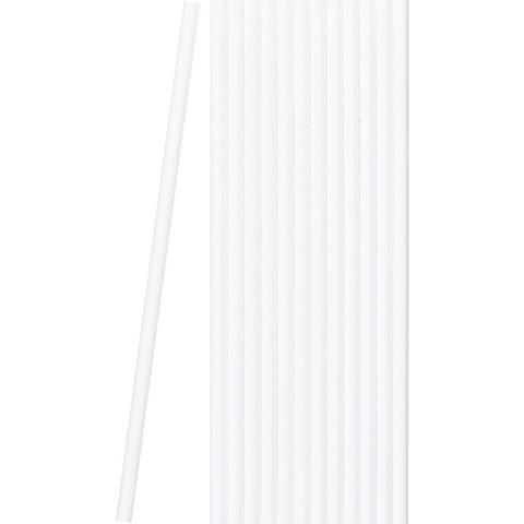 Трубочки для коктейля бумажные сплошные белые в пленке(50шт/уп)(40уп/кор)