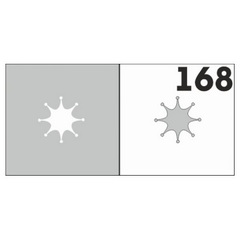 Трафарет для ногтей 6 шт. /1 уп. №168