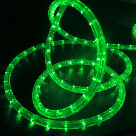 Шланг зеленый готовый кусок провода светодиодного дюралайт 10 метров led