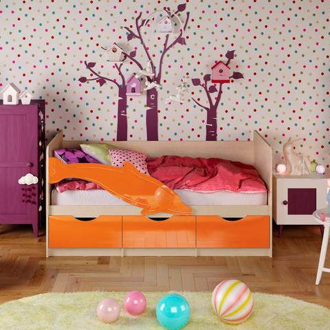 Кровать Дельфин-1 оранжевый
