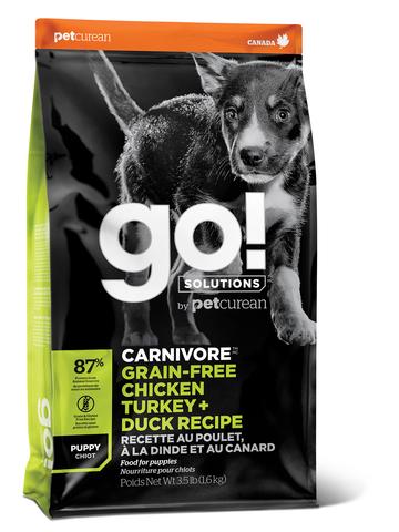 GO! CARNIVORE - для щенков всех пород 4 вида мяса