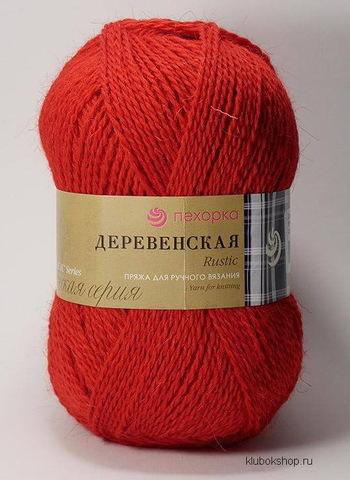 Пряжа Деревенская (Пехорка) 88 Красный мак, фото
