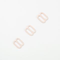 Регулятор для бретели бежево-серебристый 10 мм
