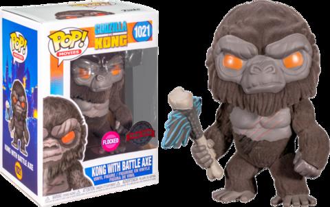 Фигурка Funko Pop! Movies: Godzilla vs Kong - Kong with Battle Axe (Flocked) (Excl. to Barnes & Noble)