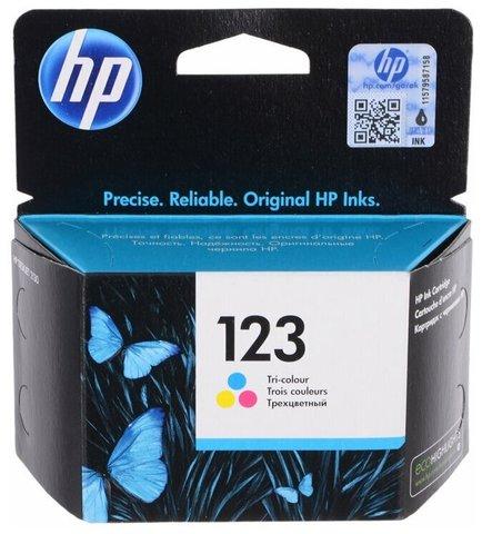 Оригинальный картридж струйный HP F6V16AE 123 цветной