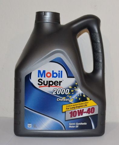 152064 152626 MOBIL SUPER 2000 X1 Diesel 10W-40 моторное полусинтетическое масло  (4 Литра) купить на сайте официального дилера Ht-oil.ru