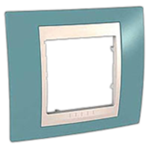 Рамка на 1 пост. Цвет Синий/Белый. Schneider electric Unica Хамелеон. MGU6.002.873