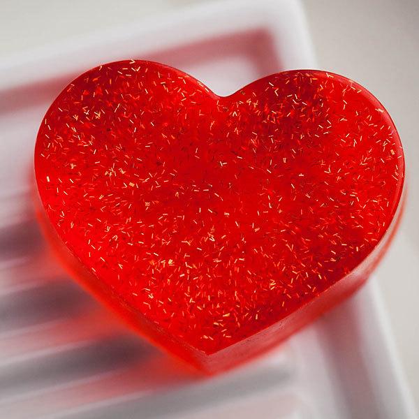 Мыло Сердце ровное. Пластиковая форма