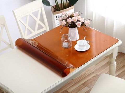 Накладка на стол коричневая ширина 70 см.