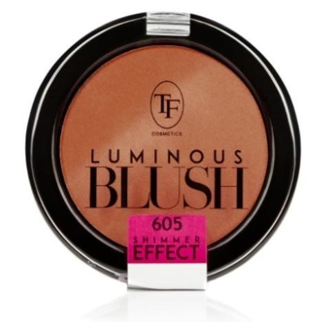 ТФ Румяна пудровые с шиммер эффектом- тон 605 Розовый янтарь