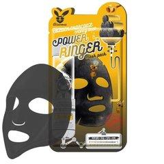 Очищающая тканевая маска для лица с порошком древесного угля Elizavecca Black Charcoal Honey Deep Power Ringer Mask Pack